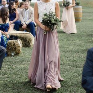 Jenny Yoo Hampton Skirt with Matching Lace Top